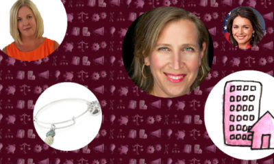 Clockwise from top: Solar Energy Industries Association' Abigail Ross Hopper; Susan Wojcicki; Rep. Tulsi Gabbard; real estate icon; and an Alex and Ani bracelet.