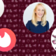 Left to right: Barney's Daniella Vitale; Tinder logo; Eventbrite's Julia Hartz; Taco Bell logo.