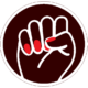 Boss Betty raised fist logo