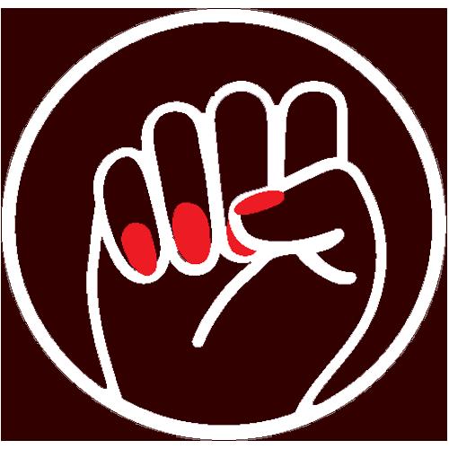 Boss Betty raised fist logo