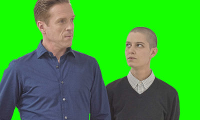 "Bobby ""Axe"" Axelrod (Damian Lewis) and Taylor Mason (Asia Kate Dillon) of Showtime's ""Billions."""