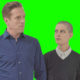 """Bobby """"Axe"""" Axelrod (Damian Lewis) and Taylor Mason (Asia Kate Dillon) of Showtime's """"Billions."""""""