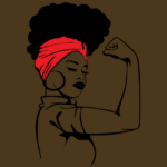 Illustration of a Black woman as Rosie the Riveter