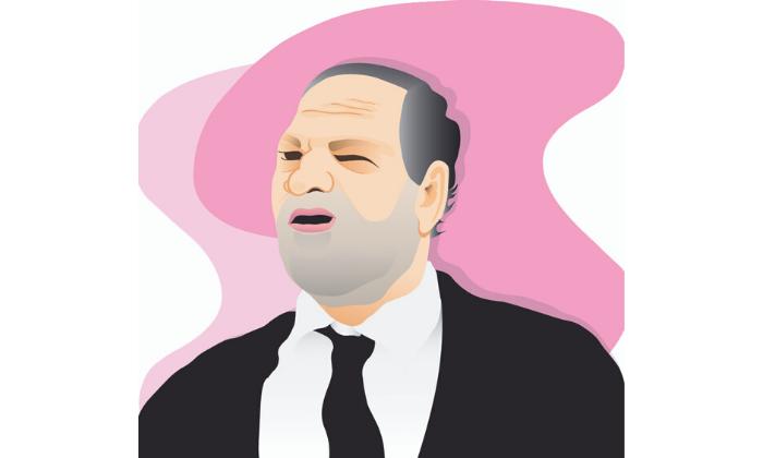 Harvey Weinstein illustration