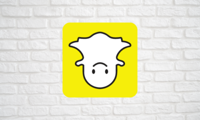 Snapchat logo upside down