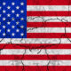 Cracked American flag