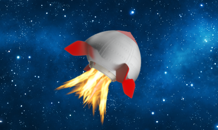 Boob-shaped rocket